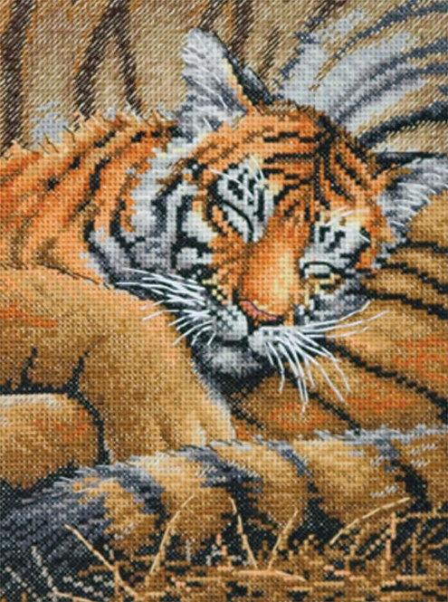 Dimensions Cozy Tiger Cub Wildlife Cross Stitch Kit