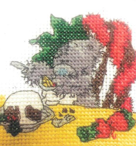 DMC Me To You Tatty Teddy Christmas Mini Cross Stitch Christmas Dinner