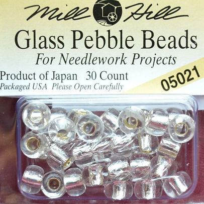 Mill Hill Glass Pebble Beads - Size 5.5mm