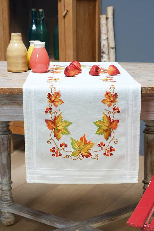 Vervaco Autumn Leaves Table Runner Cross Stitch Kit
