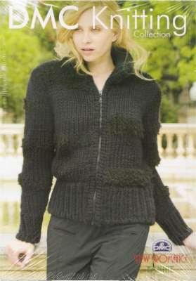 Turtleneck Jacket Knitting Pattern