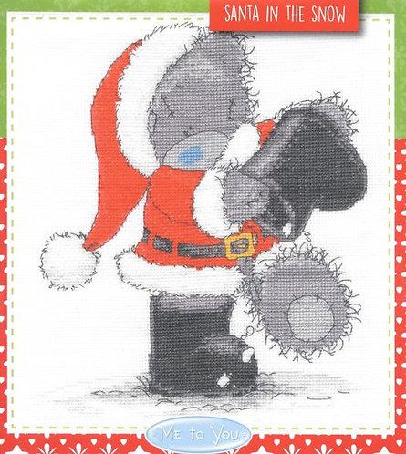 Christmas Santa in the Snow Me to You Tatty Teddy DMC Cross Stitch Kit