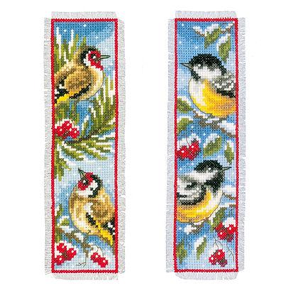 Vervaco Winter Birds Bookmarks (set of 2) Nature Cross Stitch Kit