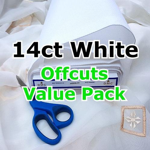 14/16ct White/Antique White/Black Aida Offcuts Value Pack-B