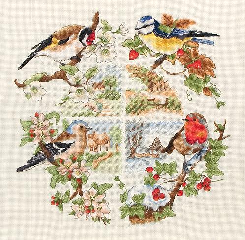 Anchor Birds and Seasons Nature  Cross Stitch Kit