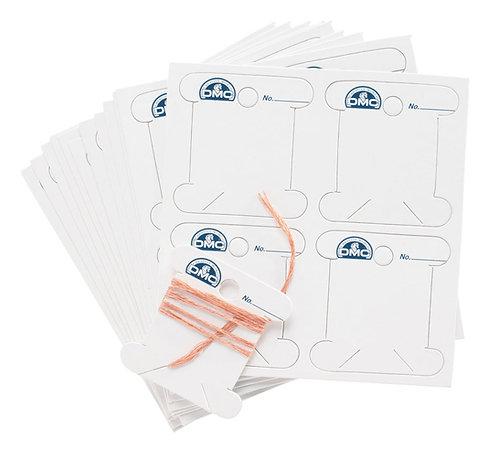 Pack of 56 DMC Card Bobbins