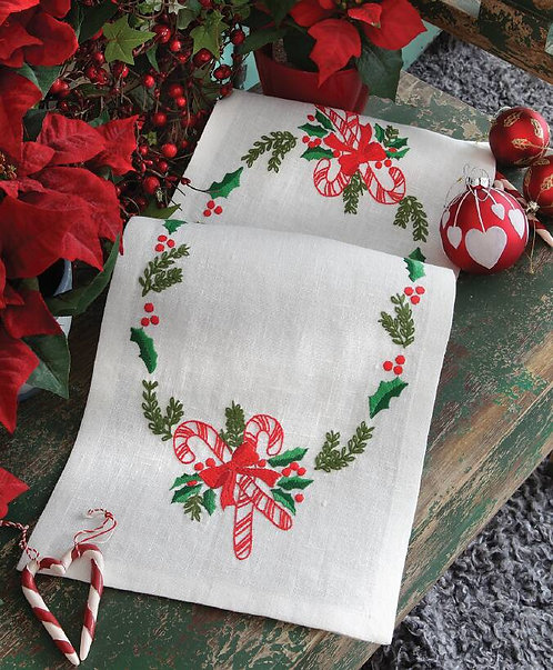 Anchor Christmas Candy Table Runner Embroidery Kit
