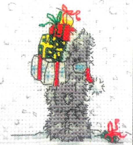 DMC Me To You Tatty Teddy Christmas Mini Cross Stitch Presents For Me