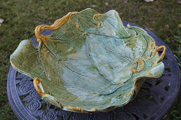 GREEN MULTI LEAF DISH