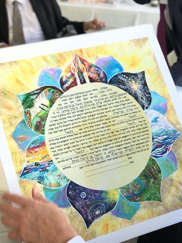 7 days creation ketubah print