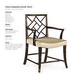 'Chinese Chippendale Armchair - 1004-A-1