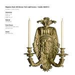 'Regence Style Gilt Bronze Twin Light Sc