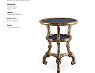 'Naturalist Style Carved Giltwood Table