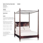 'Barley Twist Four Poster Bed - KJ9001-1