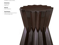 'Origami Taboret A - Inverted Center - T