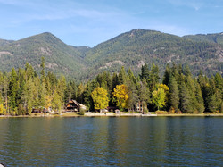 fall lake far