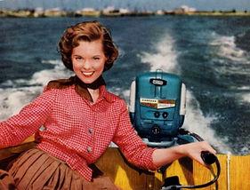 pretty woman  on boat