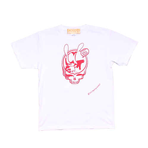 ARTGANGMONEY S/S Tee White/ Red