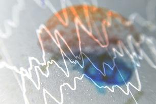 EEG wave background,Brain with brain wav