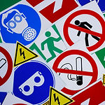 Safety signs and symbols. Health and saf