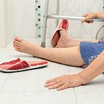 elderly fallling in bathroom because sli