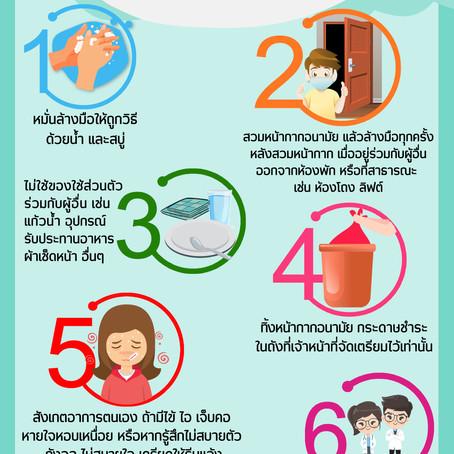 เตรียมรับมือ COVID-19 กับ 6 ข้อต้องรู้ ป้องกัน 'ไวรัส'