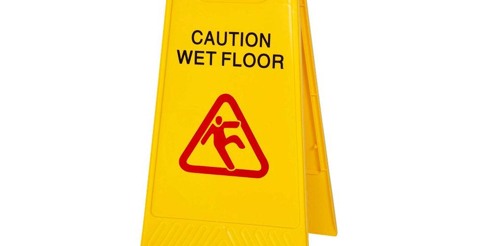 CAUTION - WET FLOOR SIGN
