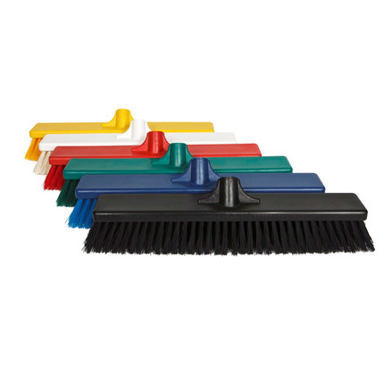 COLOUR CODED HYGIENE BROOM HEADS 450MM