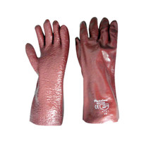 RED PVC ELBOW GLOVES
