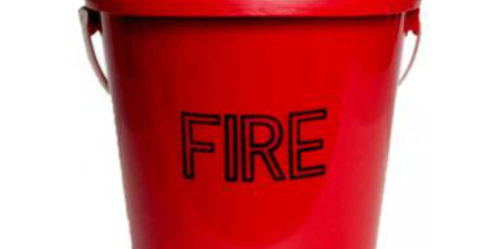 FIRE/SAND BUCKET - PLASTIC