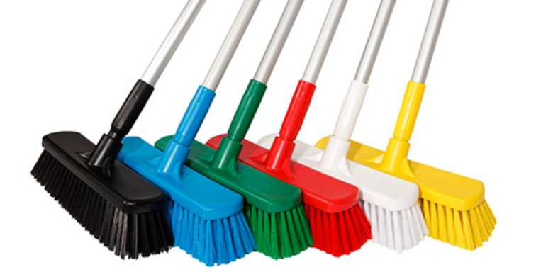 COLOUR CODED COMPLETE HYGIENE BROOM