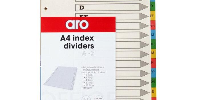 FILE DIVIDERS - PVC - A-Z