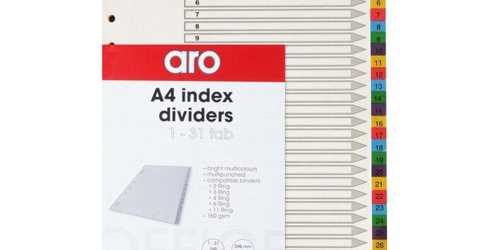 FILE DIVIDERS - PVC - 1-31