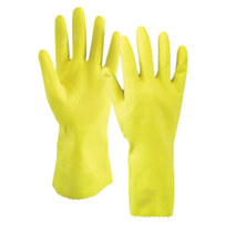 YELLOW LATEX ELBOW LENGTH HOUSEHOLD GLOVES