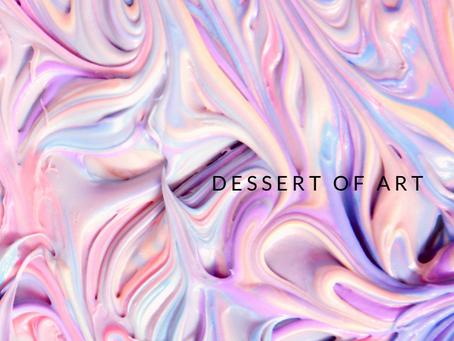 用藝術的雙眼吃甜點