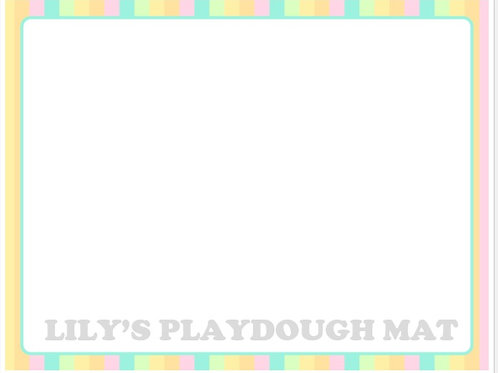 Personalized Name Placemat