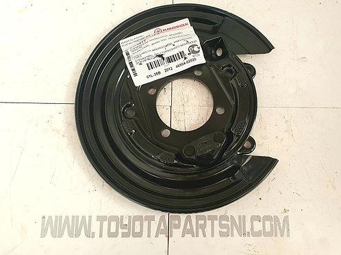 E12 Corolla brake dust backing plate rear left nearside 02-07 46504-02020