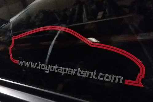 Toyota Parts NI Website sticker x2 (any car outline of your choice)