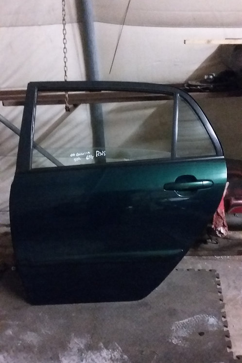 E12 Corolla nearside rear door 5dr green 6r4 03-06