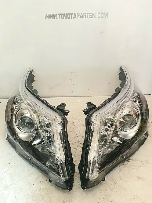 Avensis T27 front nearside offside headlights pair 2011-15 with led D