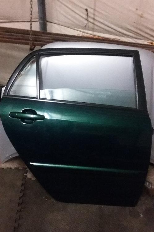 E12 Corolla offside rear door 5dr green 6r4 03-06