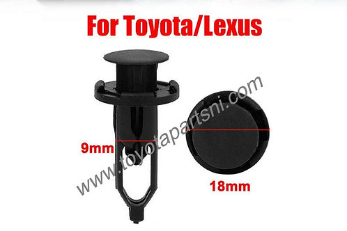 9mm Bumper Fender Retainer Push Clips Fastener For Toyota / Lexus
