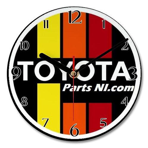 Retro Style wall clock - Toyota Parts NI.com