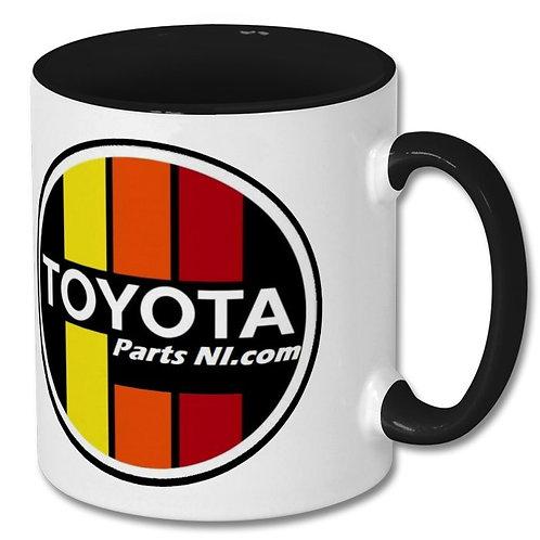 Retro style Keep calm and logo mug Toyota Parts NI.com