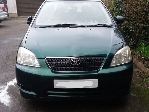 Corolla bonnet hatchback 5dr green 6r4 03-06