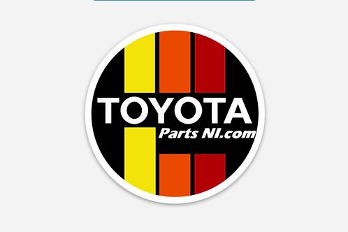 Retro style Toyota Parts NI sticker