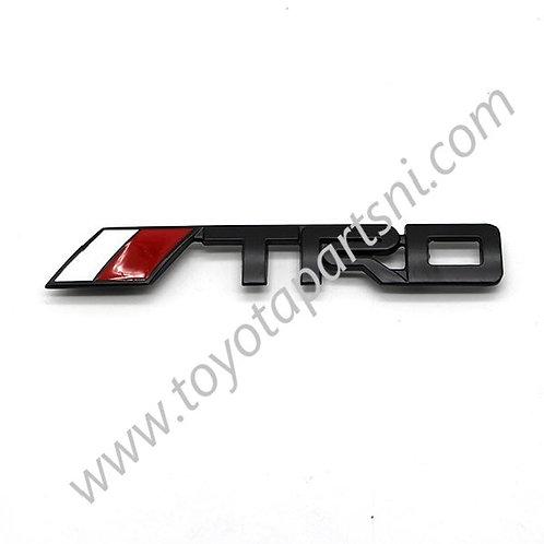 TRD Logo Emblem Badge Sticker Metal Decal black