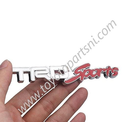 TRD sports Logo Emblem grill Badge Sticker Metal Decal