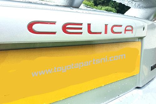 Celica gen 7 rear boot lid trunk handle sticker decal TRD T-Sport VVTLi  VVTi
