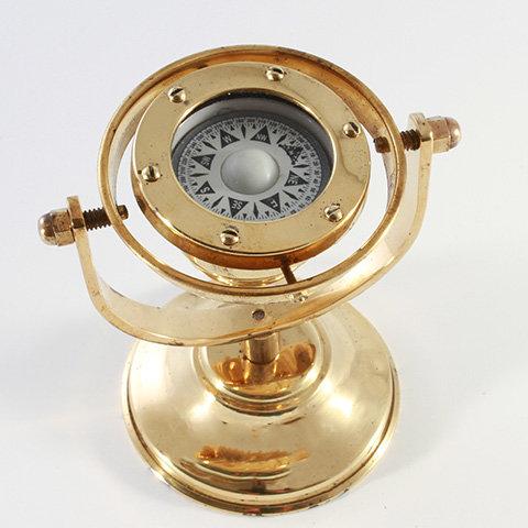 "2"" Brass Gimballed Compass by Clipperlight - © Nick Gravenor"